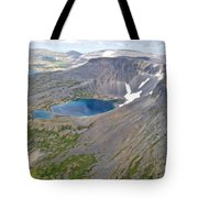 A Crater Lake From The Seaplane In Katmai National Preserve-alaska  Tote Bag