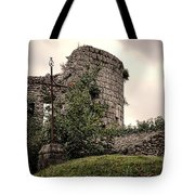 A Cross In The Ruins Tote Bag