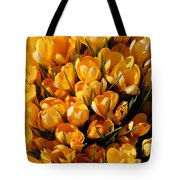 A Crowd Of Crocuses Tote Bag