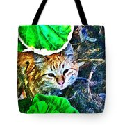 A Curious Cat Tote Bag