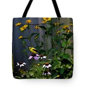 A Cute Couple Of Yellow Finches Tote Bag
