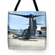 A Cv-22b Osprey On The Ramp At Hurlburt Tote Bag