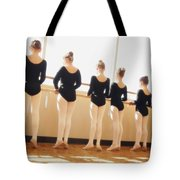 A Dance Class Tote Bag by Don Hammond