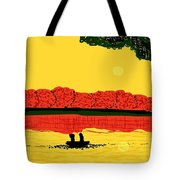 A Date At Sunset Tote Bag