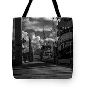 A Day At The Dock Tote Bag