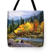 A Day On The River Tote Bag