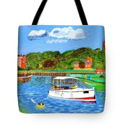 A Day On The River In Exeter Tote Bag