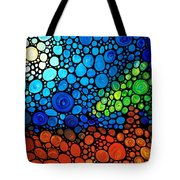A Day To Remember - Mosaic Landscape By Sharon Cummings Tote Bag