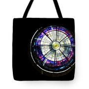 A Dazzling Stained Glass Gem Emerging From The Darkness Tote Bag