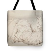 A Dead Stag Tote Bag by Sir Edwin Landseer