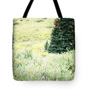 A Deer Hiding In The Tundra Tote Bag