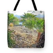 A Desert Landscape Tote Bag