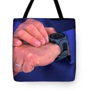 A Detail Shot Of A Man Checking Tote Bag