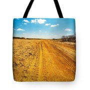 A Dirt Road In The Desert Tote Bag