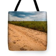 A Dirt Road In The Plains Tote Bag