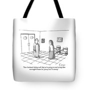 A Doctor Is Seen Talking To A Woman Tote Bag by Zachary Kanin