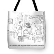 A Doctor Shows A Patient An X-ray Tote Bag