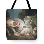 A Dog Attacking Geese, 1769 Oil On Canvas Tote Bag