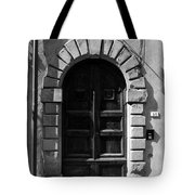 A Door In Tuscany Bw Tote Bag