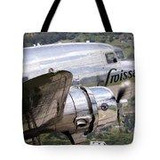 A Douglas Dc-3 Of Swiss International Tote Bag