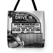 A Drive-in Theater Marquee Tote Bag