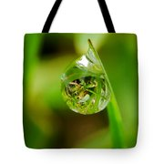 A Drop Of Water For Every Blade Of Grass Tote Bag