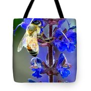 A European Honey Bee And It's Flowers Tote Bag