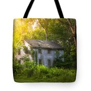A Fading Memory One Summer Morning - Abandoned House In The Woods Tote Bag