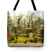 A Fall Gathering Of Crows Tote Bag