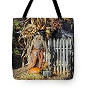 A Fall Scarecrow Display Tote Bag