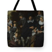 A Family Group In A Landscape Tote Bag