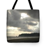 A Figure Strolls Along The Beach, Playa Tote Bag