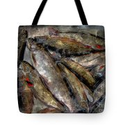 A Fine Catch Of Trout - Steel Engraving Tote Bag