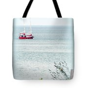 A Fine Day For A Red Boat Tote Bag