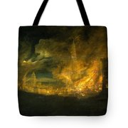A Fire In The City Tote Bag
