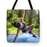 A Fit Woman Completes A Morning Tote Bag