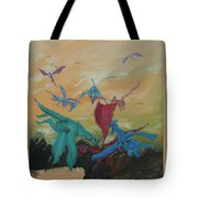 A Flight Of Dragons Tote Bag