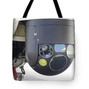 A Flir Camera Mounted On An Eh101 Tote Bag