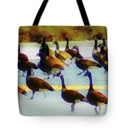 A Flock Of Geese Tote Bag
