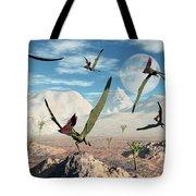 A Flock Of Thalassodromeus Pterosaurs Tote Bag