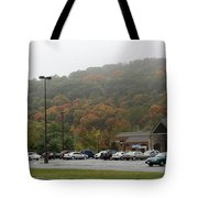 A Foggy Autumn Day At The United States Military Academy Tote Bag
