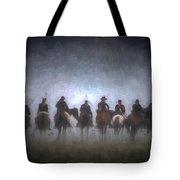 A Foggy Gettysburg Morning - Oil Tote Bag
