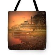 A Foggy Sunrise Tote Bag