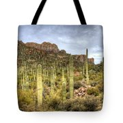 A Forest Of Saguaros  Tote Bag