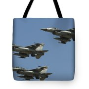 A Formation Of Turkish Air Force F-16cd Tote Bag