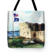A Fort In Maine Tote Bag