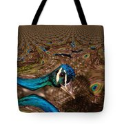 A Fractual Peacock  Tote Bag