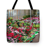 A French Flower Market Tote Bag