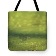 A Frog In Pond Muck Tote Bag