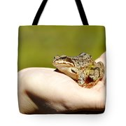 A Frog In The Hand Tote Bag